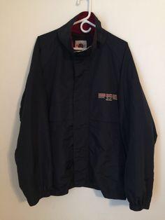 Hard Rock Cafe ORLANDO Jacket Coat Extra Large XL Nylon Dark Navy Blue Florida