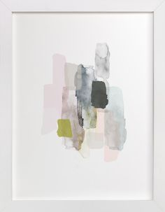 Weathered by Melanie Severin at minted.com.... maybe I could do this but with tissue paper