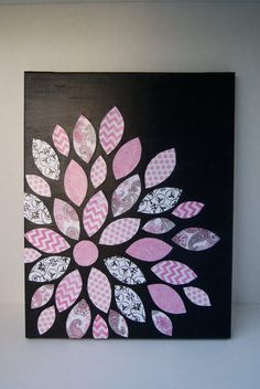 Flower on 11x14 canvas. mother's day. decoration or thank you gift. made to order.
