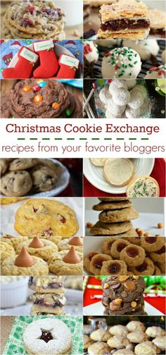 Christmas Cookie Exchange Recipes from your favorite bloggers, such a great collection of cookie recipes!