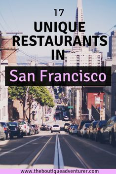 San Francisco is favorite destinations for foodies around the world. With a lot of unique restaurants, delicious food and trendy new concept, you might find difficult to choose where to eat in San Francisco. Use this list of 17 best restaurants in San Fra Best Places To Eat, Places To Travel, Travel Destinations, Places To Visit, Food Places, San Francisco Food, San Francisco Travel, Best Brunch San Francisco, San Francisco Dinner