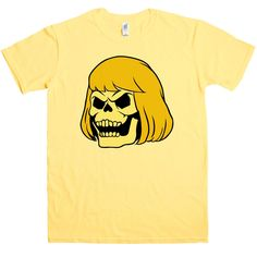 Skelehair T Shirt - Yellow Haze / Medium
