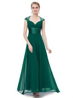 Ever Pretty Womens Sleeveless Sequins Formal Chiffon Bridesmaids Dress 8 US Green