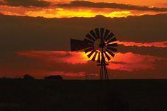 Sunset Windmill by Iowa Farm Bureau, via Flickr