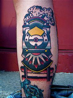 traditional train tattoo - Google Search