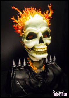 Ghost Rider Cake!!!....now THIS is my type of cake! WOW!!!