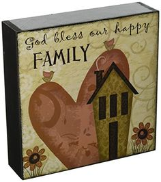 Blossom Bucket 'God Bless Family' Wall Box Sign with Heart' Decor -- Read more at the image link. (This is an affiliate link) Blessed Family, Wall Boxes, Family Wall, Decorative Signs, Heart Decorations, Box Signs, Bucket, God, Happy