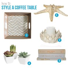 How to style a coffee table | Darling Dwellings: DIY home decor, tips, and inspiration