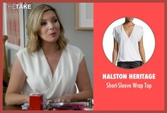 Halston Heritage Short-Sleeve Wrap Top inspired by Brianna Hanson in Grace and Frankie | TheTake