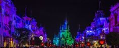 Halloween lighting on Main Street during Mickey's Not So Scary Halloween Parade ~ Joanie Eddis-Koch