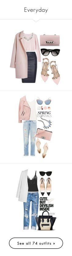 """""""Everyday"""" by katie-hulme ❤ liked on Polyvore featuring By Malene Birger, Prada, Valentino, Monki, Paige Denim, Topshop, 3.1 Phillip Lim, DANNIJO, Chanel and Miu Miu"""