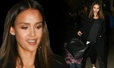 Jessica Alba lands in Los Angeles after attending Florida beauty conference | Daily Mail Online