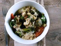 Roasted Vegetable Buddha Bowl with Lemon-Tahini Dressing Recipe - pamelasalzman.com