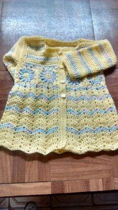 Saco en crochet,combinado