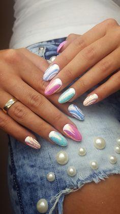 Pixel Effect Cinderella + Mix colors from Miami Gel Polish Collection By Indigo Educator Paulina Walaszczyk #nails #nail #pixel #effectnails #indigonails #indigo #cinderella #miami #nataliasiwiec #sexynails #springnails #summernails