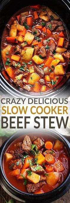 Slow Cooker Homemade Beef Stew makes the perfect comforting dish on a cold day. Best of all its easy to make and simmers in the crock-pot for the most delicious and tender meat with carrots potatoes sweet potatoes and celery. Super comforting for a co Best Crockpot Beef Stew, Homemade Beef Stew, Crock Pot Slow Cooker, Beef Stew Crock Pot, Slow Cooked Beef Stew, Roast Beef, Easy Beef Stew, Dinner Crockpot, Recipe For Slow Cooker Beef Stew