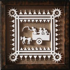 Trible Village Art Craft with Bamboo Frame made by Bamboo Art & Craft, Clay Wall Art, Mural Wall Art, Murals, Madhubani Art, Madhubani Painting, Worli Painting, Fabric Painting, Rajasthani Art, Pottery Painting Designs