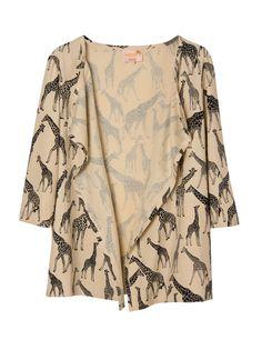 Dolores Promesas Elle Moda, Giraffe, Kimono Top, Textiles, My Style, Spring, Blouse, Womens Fashion, Jackets