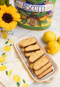 Lemon, Olive Oil Biscotti With Almonds – Italian Food Forever