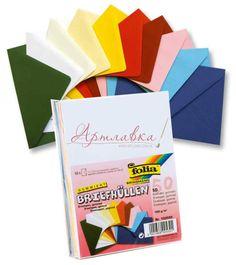 Набор разноцветных конвертов, 50шт/уп