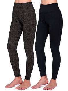 2b94d9c2e0a Daisity Women s Yoga Pants - Gym Activewear Slim Spandex Tights - Hidden  Pocket Color Black Grey Pack Of 2 Size M    Read more at the image link.