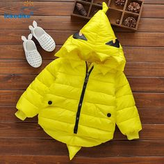 36.82$  Watch now - http://ai7mi.worlditems.win/all/product.php?id=32725924002 - Children Winter Coat 2017 New Baby Boys Girls Cute Cartoon Dinosaur Kids Coats Fashion Outwear Clothes Hooded Clothing T2809