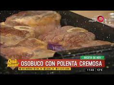 Receta de hoy: Osobuco con polenta cremosa y waffles de queso con huevos...