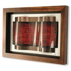 Nebraska Furniture Mart – Nova Overlap Wall Art in Silver, Copper and Red