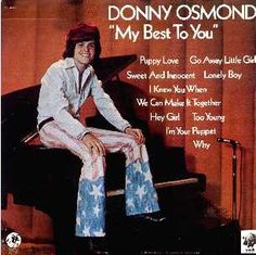 I still have this Donny Osmond record album. This was my first album I ever got