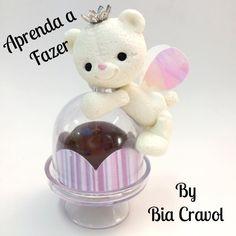 DIY-Ursa Porta Doce - Biscuit - porcelana fria- By Bia Cravol + Morro de...
