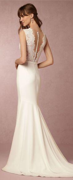 Wedding Dress - Belle The Magazine Shop - Maeve Gown BHLDN #weddingdress #bridalgown #weddings