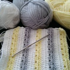 Crocheting a baby blanket for a friend who is expecting soon!  #crochet…