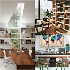 Go for an organic and #zen vibe for your #workspace or home #office with natural materials.