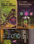 C.S Lewis space trilogy..covers have been revamped with better art..In my opinion:) These are the old ones...