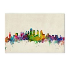 Michael Tompsett 'Philadelphia, Pennsylvania' Canvas Art