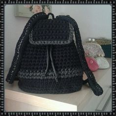 Fashion Backpack, Backpacks, My Love, Crafts, Coin Purses, Trapillo, Slipcovers, Purses, Fabrics