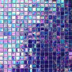 Bathroom - purple Iridescent Glass Mosaic Tiles love these! Iridescent Tile, Glass Mosaic Tiles, Cement Tiles, Wall Tiles, All Things Purple, Shades Of Purple, Pink Purple, Decoration, Decor Diy