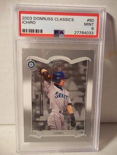 2003 Donruss Classics Ichiro Suzuki PSA Mint 9 Baseball Card #80 MLB #SeattleMariners