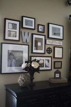 Simple, lovely gallery wall.
