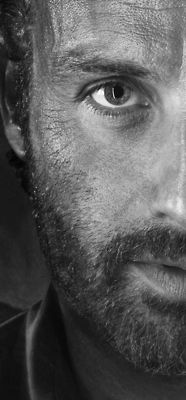 Andrew Lincoln as Rick Grimes in The Walking Dead... he seems like he is a sensitive and strong man :-)