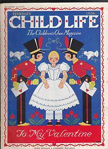 Feb 1936 Child Life Magazine Valentine's Day Cover