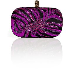 EMILIO PUCCI Black And Dahlia Sequin Round Hard Clutch ($1,393) ❤ liked on Polyvore