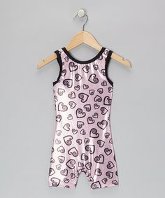 Take a look at this Light Pink Be Still My Heart Biketard - Toddler & Girls by Pelle Activewear on #zulily today!