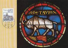 Zodiac Signs maximum cards (Switzerland – Astrology and Art Taurus Art, Zodiac Signs Taurus, Zodiac Art, Rose Window, Traditional Artwork, Stained Glass Windows, Switzerland, Mosaic, Sculptures