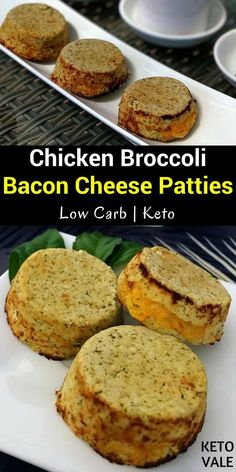 Keto Chicken Broccoli Bacon Cheese Patties Low Carb Recipe via @ketovale