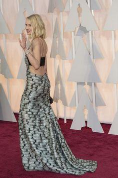 Naomi Watts in Armani at 2015 Oscars
