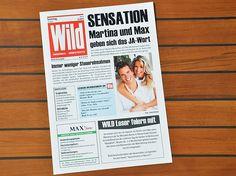 WILD Zeitung Hochzeitseinladung von Wunschblatt