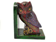 Wooden Hand Carved Embossed Owl Bookend - Red Color 7 Inches The Modish Store,http://www.amazon.com/dp/B00EJ2XLJW/ref=cm_sw_r_pi_dp_gvbMsb0CK7GW2XR1