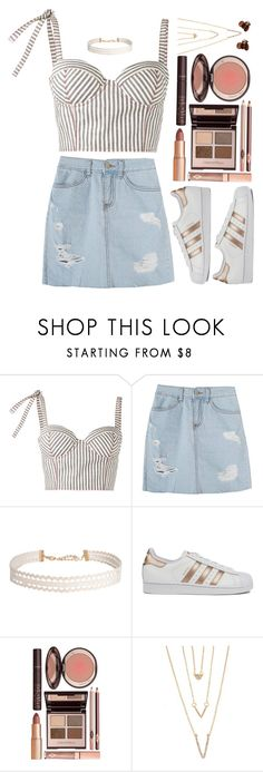 """playful / august 26"" by artsy3999 ❤ liked on Polyvore featuring Rosie Assoulin, Humble Chic, adidas, Charlotte Tilbury, SHAN and H&M"