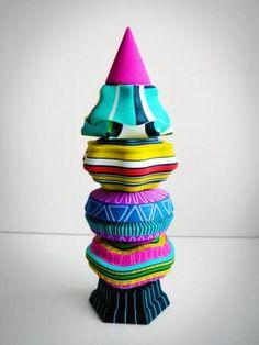 ceramic MeMeMeMeTotem /at Design Museum / by Adam Nathaniel Furman > identity-parade.blogspot.co.uk/